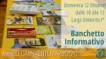 Banchetto informativo domenica 12 ottobre di LEGAMBIENTE MARUGGIO, vienici a trovare!