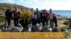 Le Domeniche Ecologiche di LEGAMBIENTE MARUGGIO, resoconto di domenica 26 ottobre 2014