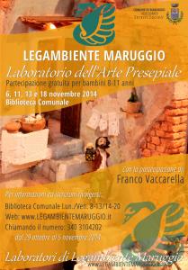 """Parte il """"Laboratorio dell'Arte Presepiale"""" a cura di LEGAMBIENTE MARUGGIO"""