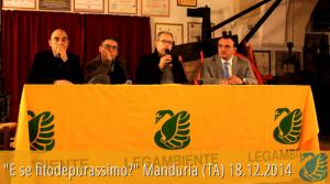 """Video integrale degli interventi di Maurizio Manna e Cosimo Giannuzzi alla conferenza """"E se fitodepurassimo?"""" svolta a Manduria (TA) il 18.12.2014"""