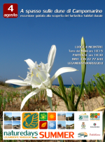 """Oggi – 4 agosto – e per tutta l'estate a Campomarino di Maruggio (Ta) e dintorni, arrivano i """"naturedays SUMMER"""" escursioni naturalistiche esperienziali guidate per adulti e bambini!"""