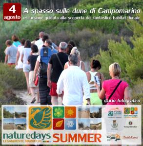 """Continua il successo di presenze turistiche ai """"naturedays SUMMER"""" escursioni naturalistiche esperienziali guidate per adulti e bambini a Campomarino di Maruggio (Ta)"""