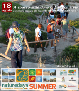 """Ancora tante le presenze turistiche ai """"naturedays SUMMER"""" escursioni naturalistiche esperienziali guidate per adulti e bambini a Campomarino di Maruggio (Ta)"""
