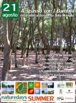 """Domani – 21 agosto – a spasso con i Bambini al boschetto della Maviglia, per i """"naturedays SUMMER"""" escursioni naturalistiche esperienziali guidate per adulti e bambini!"""