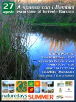 """Giovedì – 27 agosto – a spasso con i Bambini al torrente Borraco, per i """"naturedays SUMMER"""" escursioni naturalistiche esperienziali guidate per adulti e bambini!"""