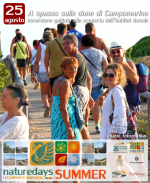 """Ancora decine le presenze turistiche sulle dune per i """"naturedays SUMMER"""" escursioni naturalistiche esperienziali guidate per adulti e bambini a Campomarino di Maruggio (Ta)"""