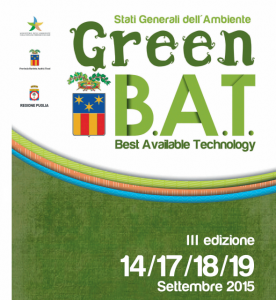 """Torna """"Green BAT"""" 2015: stati generali dell'Ambiente in Fiera del Levante e a Barletta (Ba)"""