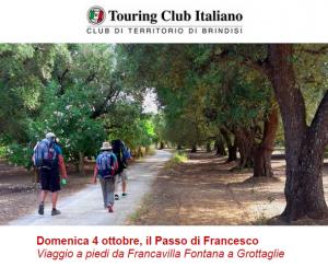 Domenica 4 ottobre, il Passo di Francesco – Viaggio a piedi da Francavilla Fontana (Br) a Grottaglie (Ta)