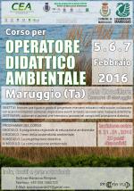 Corso formativo per OPERATORE DIDATTICO AMBIENTALE a Maruggio (Ta) il 5, 6 e 7 febbraio 2016