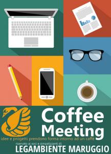 """Tornano i """"Coffee Meeting"""" incontri pubblici organizzativi di LEGAMBIENTE MARUGGIO, martedì 16 febbraio 2016 alle ore 20 presso la Pasticceria Delicieux Sweet Bar"""