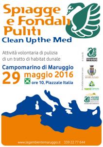 """Domenica 29 maggio 2016 a Campomarino di Maruggio (Ta) campagna di volontariato ambientale con l'iniziativa nazionale """"Spiagge e Fondali Puliti"""" a cura della Legambiente di Maruggio"""