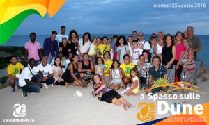 """Foto-Racconto del QUARTO appuntamento di """"a Spasso sulle Dune"""" escursioni guidate esperienziali sulle dune di Campomarino, tutti i MARTEDI' di agosto 2016 a cura della LEGAMBIENTE di Maruggio (Ta)"""