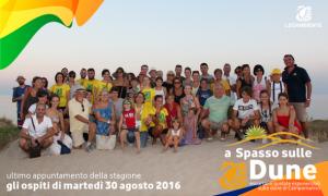 """Foto-Racconto del QUINTO appuntamento di """"a Spasso sulle Dune"""" escursioni guidate esperienziali sulle dune di Campomarino, tutti i MARTEDI' di agosto 2016 a cura della LEGAMBIENTE di Maruggio (Ta)"""
