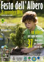 """Festa dell'Albero 2016 – Iniziativa """"Un albero per ogni nuovo nato"""", lunedì 21 novembre alle ore 10 presso l'area a verde pubblico in via Rosiello a Maruggio (Ta)"""