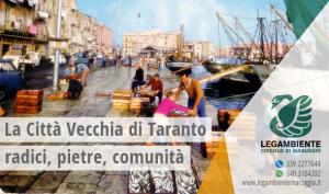 La Città Vecchia di Taranto: le radici, le pietre, la comunità. Il 3, 12 e 24 febbraio tre appuntamenti per riflettere sul futuro dell'Isola, a cura della Legambiente