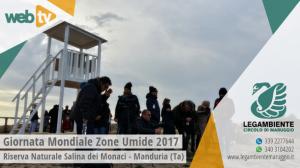 """VIDEO – Visita guidata presso la """"Salina dei Monaci"""" in occasione della """"Giornata Mondiale delle Zone Umide 2017″, a cura della Legambiente di Manduria (Ta)"""