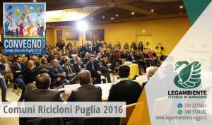 """IX Edizione di """"Comuni Ricicloni Puglia"""" 2016, premiate ben 53 amministrazioni virtuose pugliesi!"""
