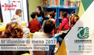 """Anche a Maruggio si è svolta l'iniziativa a carattere nazionale """"M'illumino di meno"""" 2017 a cura del locale circolo della Legambiente, con un incontro didattico creativo per bambini, presso la Biblioteca Comunale"""
