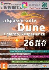 Il World Wide Instameet #WWIM15 della comunità social Instagramers di Taranto, in visita domenica 26 marzo a Maruggio e Campomarino con ben distinti 3 appuntamenti!