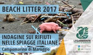 BEACH LITTER 2017: ad aprile la prima indagine e monitoraggio sui rifiuti spiaggiati a Campomarino di Maruggio, a cura dei volontari della Legambiente
