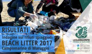 Il 95% è plastica! – Risultati dell'indagine BEACH LITTER 2017 sui rifiuti spiaggiati a Campomarino di Maruggio, a cura dei volontari della Legambiente