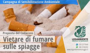 Vietare di fumare in spiaggia, le sigarette inquinano più delle auto! la proposta del Codacons di estendere il divieto a livello nazionale