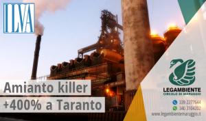 Amianto killer: i dati di Taranto fanno impallidire quelli del resto d'Italia, 400% in più di casi di cancro tra i lavoratori impiegati nelle fonderie Ilva.