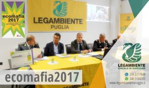 Legambiente presenta Ecomafia 2017 – La Puglia con 2.339 infrazioni accertate si piazza al terzo posto nella classifica generale dell'illegalità ambientale ed è la prima regione per numero di arresti.