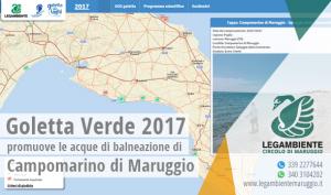 Goletta Verde 2017 presenta i risultati del monitoraggio in Puglia, entro i limiti di legge la qualità delle acque di balneazione a Campomarino di Maruggio (Ta)