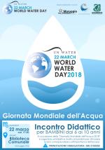 Giovedì 22 marzo in occasione della Giornata Mondiale dell'Acqua 2018, incontro didattico per bambini presso la Biblioteca Comunale, a cura della Legambiente e Servizio Civile del Comune di Maruggio