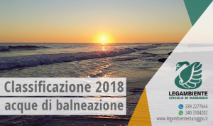 Campomarino di Maruggio (Ta) – Classificazione delle acque di balneazione per la stagione balneare 2018 sulla base dei campionamenti effettuati da  ARPA Puglia