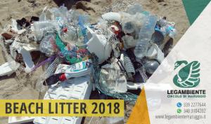 """BEACH LITTER 2018 fase 4 di 4 spiaggia """"Piri Piri"""" – Seconda indagine e monitoraggio sui rifiuti spiaggiati a Campomarino di Maruggio, a cura dei volontari della Legambiente e del Servizio Civile del Comune di Maruggio"""