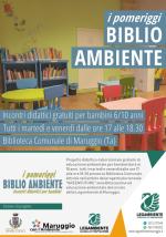 """Tutti i martedì e venerdì presso la Biblioteca Comunale, arrivano """"i pomeriggi BIBLIO AMBIENTE"""" incontri didattici gratuiti per bambini, a cura degli educatori della Legambiente e Servizio Civile del Comune di Maruggio"""