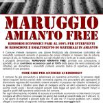 MARUGGIO AMIANTO FREE – Rimborsi economici pari al 100% per interventi di rimozione e smaltimento di materiali contenenti fibre di amianto!