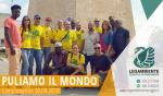 """Si è svolta domenica 30 settembre 2018 l'iniziativa """"Puliamo il Mondo"""" a Campomarino di Maruggio (Ta), attività di pulizia volontaria presso il molo di levante esterno del porto turistico-peschereccio"""