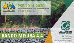 Salvaguardia e recupero conservativo dei manufatti in pietra a secco quali muretti, jazzi, etc. BANDO MISURA 4.4 PSR PUGLIA 2014/2020 – OPERAZIONE A.
