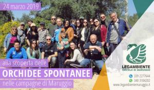 """Eravamo in tanti domenica 24 marzo 2019 """"alla scoperta delle ORCHIDEE SPONTANEE nelle campagne di Maruggio (Ta)"""", terza passeggiata naturalistica a cura della LEGAMBIENTE di Maruggio"""