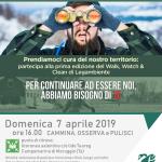 """Domenica 7 aprile 2019 passeggiata pomeridiana con l'iniziativa nazionale: """"WALK, WATCH & CLEAN – cammina, osserva e pulisci"""" a Campomarino di Maruggio (Ta)"""