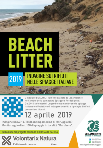 BEACH LITTER 2019: venerdì 12 aprile in contemporanea nazionale, la terza indagine e monitoraggio sui rifiuti spiaggiati a Campomarino, a cura dei volontari della Legambiente di Maruggio