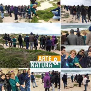 In tanti a pasquetta sui percorsi naturalistici delle dune di Campomarino di Maruggio, in occasione della visita guidata esperienziale a cura dell'APS LEGAMBIENTE Maruggio