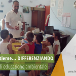 """Si è svolto il laboratorio di educazione ambientale """"Crescere insieme… DIFFERENZIANDO"""" venerdì 9 agosto 2019 rivolto ai bambini della colonia estiva comunale presso il Centro del Riuso di Maruggio (Ta)"""