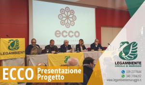 """E' stato presentato oggi a Bari il progetto nazionale """"ECCO, Economie Circolari di COmunità"""" che vedrà Maruggio tra i 13 poli coinvolti, in occasione delle premiazioni di """"Comuni Ricicloni Puglia 2019″"""