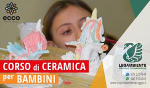 """Si è svolto il corso di ceramica per bambini: """"Realizziamo insieme l'Unicorno"""" – laboratoro didattico-creativo a cura dell'APS Legambiente Maruggio presso il Centro del Riuso comunale, in collaborazione con l'Associazione Culturale Eudemonia."""