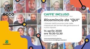 Caffè incluso, il format del progetto ECCO per promuovere l'inclusione sociale | Tre eventi online per affrontare i bisogni locali e analizzare possibili risposte alle marginalità grazie a un'economia civile e circolare.