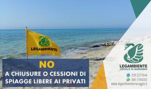 Spiagge libere e Covid-19 | NO A CHIUSURE O CESSIONI DI SPIAGGE LIBERE AI PRIVATI – Le raccomandazioni e le proposte offerte ai comuni costieri da Legambiente.
