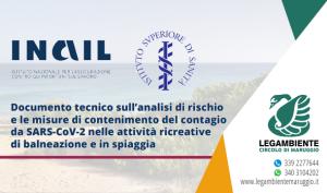 INAIL – ISS | Documento tecnico sull'analisi di rischio e le misure di contenimento del contagio da SARS-CoV-2 nelle attività ricreative di balneazione e in spiaggia.