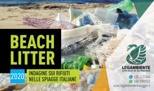 BEACH LITTER 2020: martedì 9 giugno la quarta indagine e monitoraggio sui rifiuti spiaggiati a Campomarino di Maruggio, a cura dei volontari dell'APS Legambiente di Maruggio