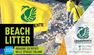 Si è svolto il BEACH LITTER 2020: quarta indagine e monitoraggio sui rifiuti spiaggiati a Campomarino di Maruggio, a cura dei volontari dell'APS Legambiente di Maruggio