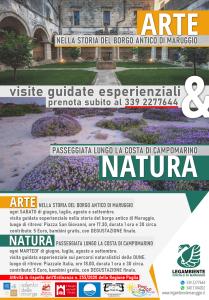 ARTE & NATURA 2020 visite guidate esperienziali da giugno a settembre, nel borgo antico di Maruggio e lungo la costa di Campomarino, a cura dell'APS LEGAMBIENTE Maruggio