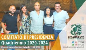 """Rinnovo del comitato di presidenza: riconfermato Gianfranco Cipriani alla carica di Presidente dell'Associazione di promozione sociale """"Legambiente Maruggio"""", insieme a tutto il direttivo uscente per il nuovo quadriennio 2020-2024."""
